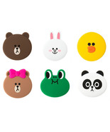 LINE Friends Silicone Hand Mirror Cosmetic Makeup Acc Compact Pocket Gif... - $19.98