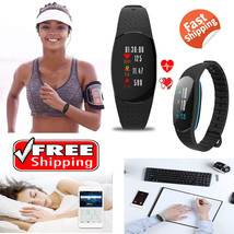 Fitness Tracker Heart Rate Monitor Pedometer Blood Pressure Calorie Coun... - $11.80