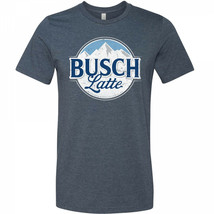 Busch Latte Mountain Logo T-Shirt Blue - $29.98+