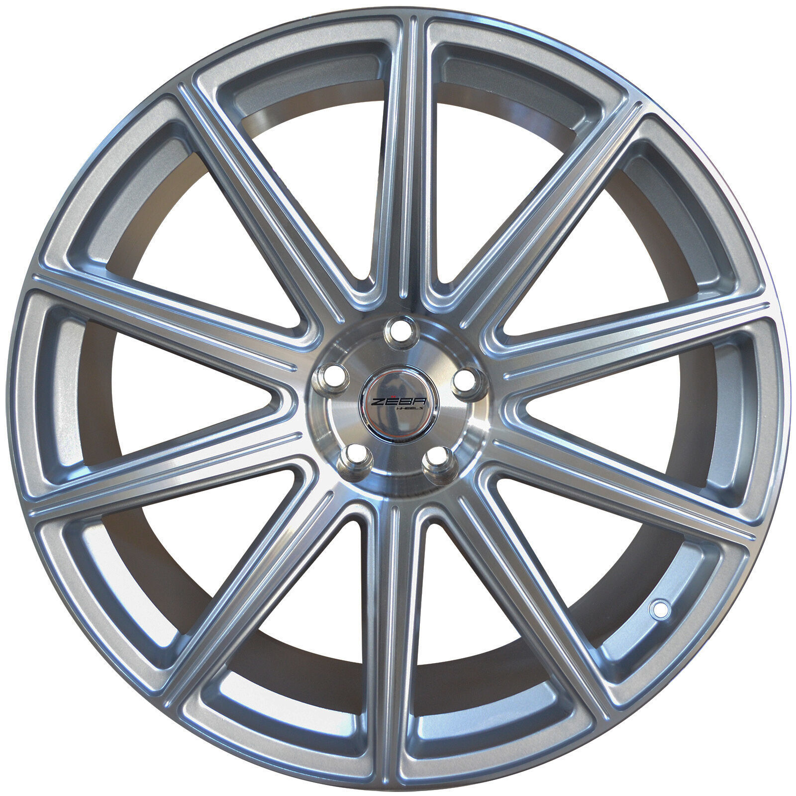 4 GWG WHEELS 20 inch STAGG Silver MOD Rims FORD MUSTANG ECOBOOST I4 W/PERF 15-18 - $799.99