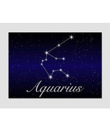 Aquarius Zodiac Sign Canvas Print Aquarius Gift Astrology Art Zodiac Pri... - $49.00
