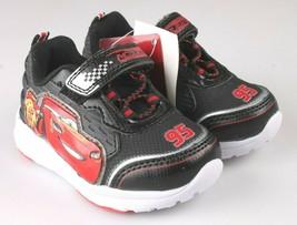Disney Pixar Toddler Boys Cars Lightning McQueen 95 Light Up Sneaker Shoes NEW