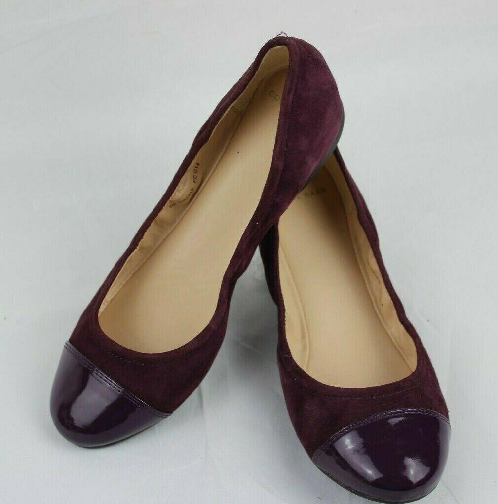 Cole Haan Mujer Zapatos Bailarinas Vino Piel ante Talla 7B