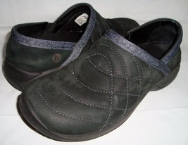 Merrell Encore Quilt Black Loafers 8 Slip On Walking Shoes Quilted - $37.95