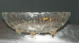 Heavy etched glass serving banana bowl AA19-LD11937 Vintage image 2