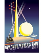 1939 New York World's Fair Vintage Poster Reproduction - $32.99+