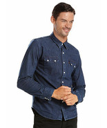Levi's Men's Pearl Snap Barstow Western Casual Denim Dress Shirt 658190099 - $36.99