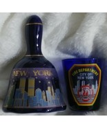 New York Fire Dept Shot Glass & New York Bell Glasses Twin Towers - $12.99