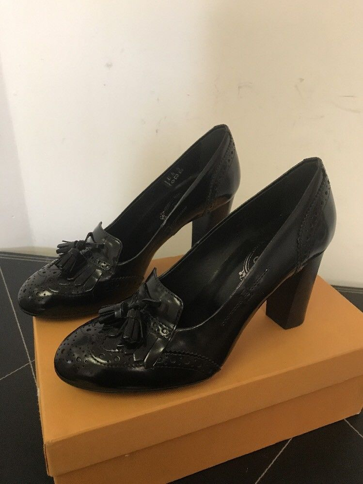1a675252ff New Tod's Fringed Loafer Pumps Black EU SZ and 38 similar items. S l1600