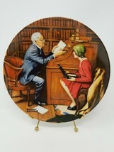 Bradford Exchange Norman Rockwell The Professor Collector Plate Knowles ... - $7.82