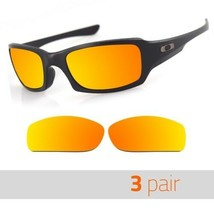 3 Pair Optico Replacement Polarized Lenses for Oakley FIVESQUARED Sunglasses Red - $20.99