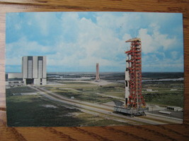 Postcard John F Kennedy Space Center NASA Apollo 4 in route to pad A  VTG - $10.00