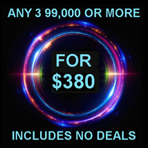 FRI-SUN ONLY PICK 3 $90,000 OR MORE FOR $380 INCLUDES NO DEALS MYSTICAL ... - $0.00