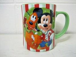 Disney store, Mickey & Minnie & Pluto Christmas 16 oz cup/ mug brand new - $26.99