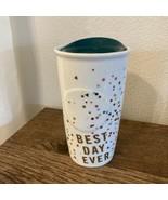 "Starbucks 2015 ""Best Day Ever"" Confetti Tumbler 10oz Travel Mug Birthday... - $34.64"