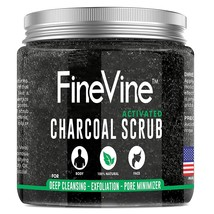 [Pack of 2] Activated Charcoal Scrub - Made in USA - For Deep Cleansing, Exfolia - $59.95