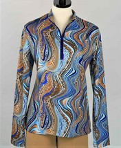 Stylish Golf & Casual Vivid Colors Animal Print Long Sleeve Mock Polo  - $29.95