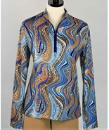 Stylish Golf & Casual Vivid Colors Animal Print Long Sleeve Mock Polo  - $29.95