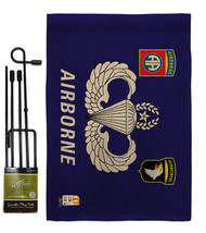 Airborne Burlap - Impressions Decorative Metal Garden Pole Flag Set GS14... - $33.97