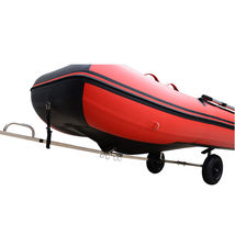 Stainless Steel Boat Launching Trailer Wheels Hand Dolly Small Inflatable Boat image 7