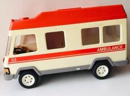 VINTAGE 1994 GEOBRA PLAYMOBIL AMBULANCE AM33 - $18.47