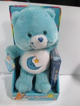 "Play Along 2002  Plush 13"" Blue Care Bears Bedtime Bear with  VCR Video - $34.64"