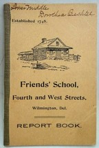 1907 antique DOROTHEA BECHTEL REPORT CARD BK wilmington - $42.50