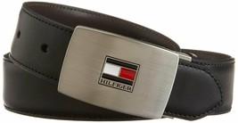 Tommy Hilfiger Men's Set Reversible Leather Belt Removable Buckle 11TL08X007 image 2