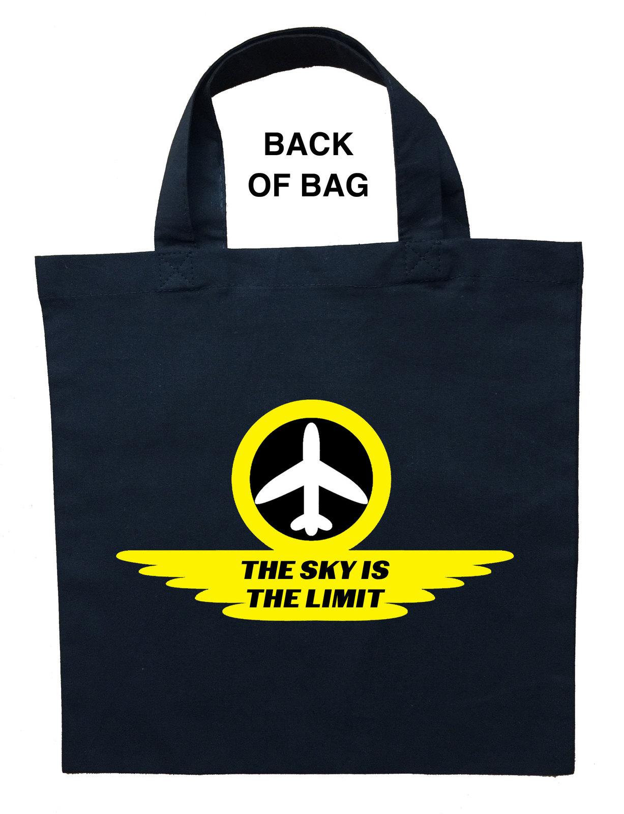 Pilot Trick or Treat Bag, Airline Pilot Halloween Bag, Pilot Loot Bag