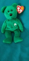 Ty Beanie Baby Erin The Bear 1997 New out of Package Low Starting Bid - $18.65