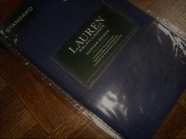New Ralph Lauren Standard 2 Pillowcases set DUNHAM NAVY BLUE - $39.99