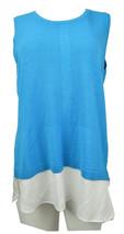 Calvin Klein Womens Geometric Printed Sleeveless Tops Multicolor L 4215-3 - $27.76