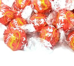Lindt Lindor Milk Chocolate Truffles Candy Red Foil Valentines Day Candy... - $32.97+