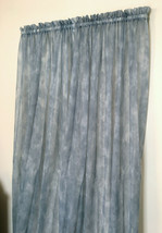 Vintage JCPenney Smoke Blue Morning Mist Sheer Curtain Panels (2) 59 & 6... - $42.56