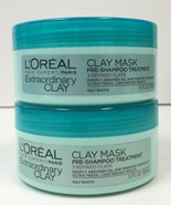 L'OREAL PARIS  Extraordinary Clay - Pre-Shampoo Mask, 5.1 oz Pack of 2 - $16.82