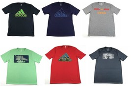 adidas Men's Tee Shirt Adi Logo Graphics Performance T-shirt Short Sleeve NEW