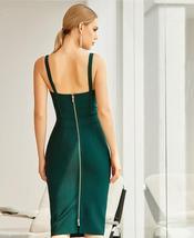 2021 New Winter Spaghetti Strap Sleeveless Bandage Dress Sexy Sequins Women Midi image 3