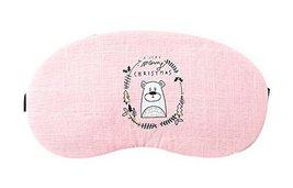 2 Pcs Breathable Eye Masks For Sleep Blindfold Shade Ease Eye Fatigue, Pink Bear - $16.89