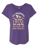 All Grandmas Are Made Equal But Only The Finest Ride Horses T Shirt, Spo... - $27.99+