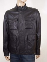 Michael Kors Men Black Sheep Leather Removable Sleeves Vest Jacket Coat XL $1295 - $303.99