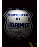 NEW BRINKS Security Yard Sign + 4 Window Decals & Clip On SOLAR Light - $24.99