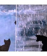 16 x 20 Acrylic Canvas Panel...CATS RAINY DAY - $36.00