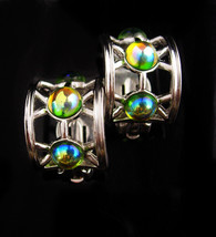 Vintage Givenchy earrings - hauntingly beautiful stones - silver Designe... - $85.00