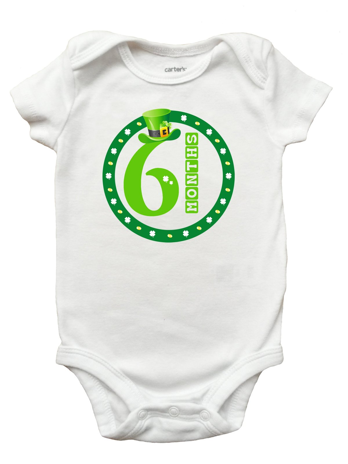 St Patricks Day March Month Romper (Size Newborn - 18 Months)