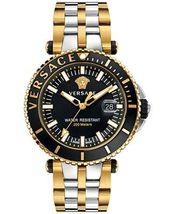 Versace VAK040016 V-Race Diver Two-Tone Stainless Steel Men's Watch - $2,578.91