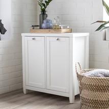 Classic White Laundry Room Essentials Double Laundry Hamper Cabinet Sorter - $197.50