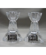 Mikasa Linear Candleholders Pair Crystal 3.5 inches tall - $12.00