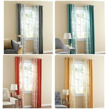 "Mainstays Kingswood Gromment Window Curtain Set 27.5""x84"" Each 4 Pieces ... - $22.99"