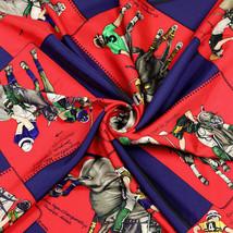 Auth Hermes Scarf MONDE DU POLO Silk CHANTAL DE CRISSEY 90cm - $289.95