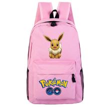 WM Pokemon Go Backpack Daypack Schoolbag Bookbag Pink Bag Eevee - €17,62 EUR